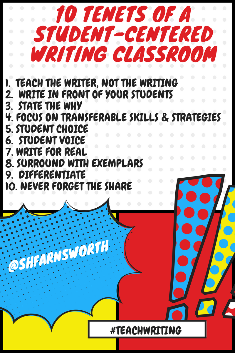10 Tenets of a Student-Centered Writing Classroom